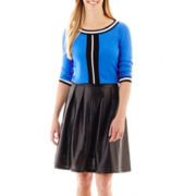 Worthington® Crewneck Sweater or Pleated Faux-Leather Skirt