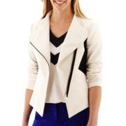 Worthington® Colorblock Moto Jacket - Tall