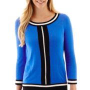 Worthington® 3/4-Sleeve Crewneck Sweater