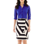 Worthington® Essential Button-Front Shirt or Sateen Skirt