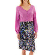 Worthington® Long-Sleeve Button-Front Blouse or Envelope Skirt