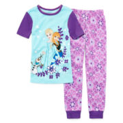 Disney Collection 2-pc. Frozen Pajama Set – Girls 2-10