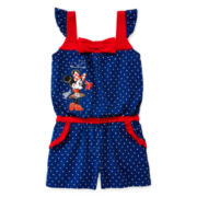 Disney Collection Flutter-Sleeve Minnie Mouse Romper - Girls 2-10