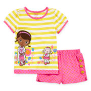 Disney Collection Doc McStuffins Tee and Shorts Set – Girls 2-10