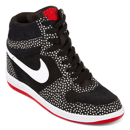 UPC 888408020949 product image for Nike Womens Force Sky High  Black/White/Red |