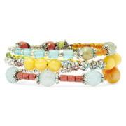 Aris by Treska Multicolor Bead Coil Bracelet