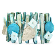 Aris by Treska Aqua Shell Statement Bracelet