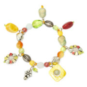 Aris by Treska Multicolor Bead Trinket Stretch Bracelet