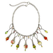 Aris by Treska Multicolor Stone Bib Necklace
