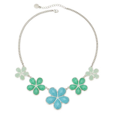 jcpenney.com | Liz Claiborne® Blue Stone Graduating Flower Collar Necklace