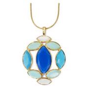 Liz Claiborne® Blue Stone Marquise Pendant Necklace
