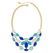 Liz Claiborne® Blue Stone Bib Necklace