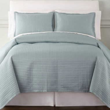 jcpenney.com | Royal Velvet® Matte Satin Square 3-pc. Coverlet Set & Accessories