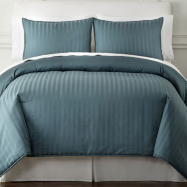 jcpenney.com | Royal Velvet® 400tc Damask Stripe Egyptian Cotton Comforter Set & Accessories