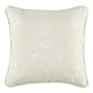 jcpenney.com |  Royal Velvet® Azure Embroidered Square Decorative Pillow