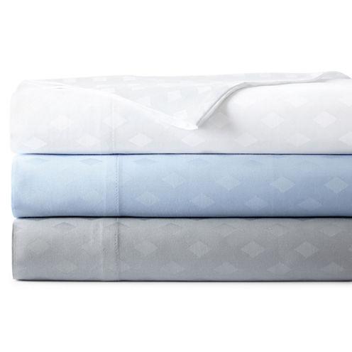 Westport Home 300tc Cotton Jacquard Diamond Set of 2 Pillowcases