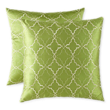 Jcpenney Red Decorative Pillows : JCPenney Home Ogee 2 pack Decorative Pillows