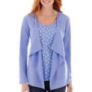 St. John's Bay® Knit Layered Flyaway Cardigan - Tall