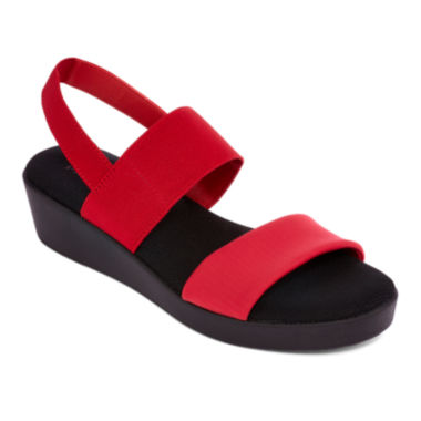 jcpenney.com | St. John's Bay® Swan Flatbed Strap Sandals - Wide Width