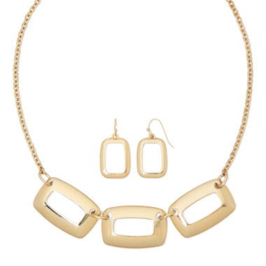 jcpenney.com | Liz Claiborne® Open Rectangle Earring and Necklace Set