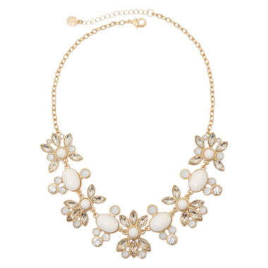 jcpenney.com | Monet® Gold-Tone White Stone and Crystal Necklace