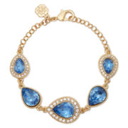 Monet® Gold-Tone Blue Stone Bracelet