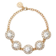 Monet® Gold-Tone Flex Crystal Bracelet