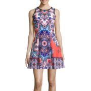 My Michelle® Sleeveless Scuba Skater Dress