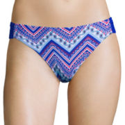 Arizona Chevron Side-Tab Hipster Swim Bottom - Juniors