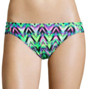 Arizona Ziggy Extravaganza Low-Rise Hipster Swim Bottom - Juniors