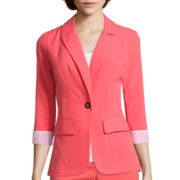 by&by Long-Sleeve One-Button Blazer