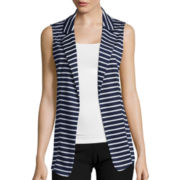 by&by Striped Open Vest
