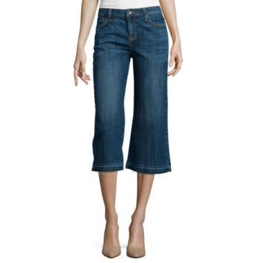 jcpenney.com | Stylus™ 5-Pocket Denim Gaucho Pants