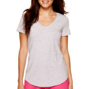 Stylus™ Short-Sleeve Slub V-Neck T-Shirt - Tall