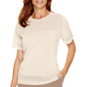 Alfred Dunner® Baton Rouge Short-Sleeve Sweater Shell