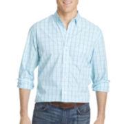 IZOD® Saltwater Windowpane Sportshirt