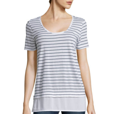 jcpenney.com | Stylus ™ Short-Sleeve Mixed Media T-Shirt