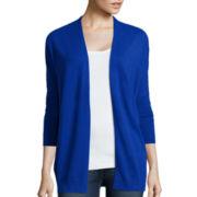 Stylus ™ 3/4-Sleeve Dolman Flyaway Sweater
