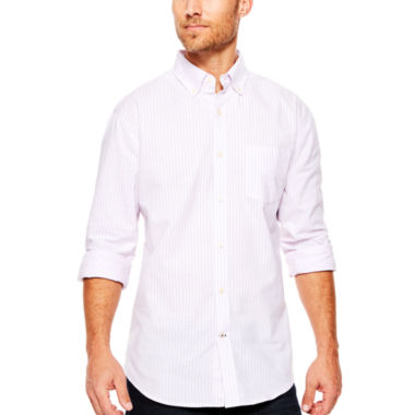 jcpenney.com | St. John's Bay® Long-Sleeve Easy-Care Oxford Sport Shirt