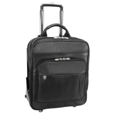 "jcpenney.com | MCKLEIN WICKER PARK LEATHER 15.6"" DETACHABLE-WHEELED THREE-WAY LAPTOP BACKPACK [PATENTED]"