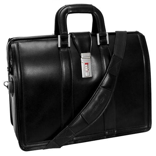 "McKleinUSA Morgan 17"" Leather Litigator Laptop Briefcase"