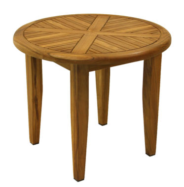 jcpenney.com | Outdoor Interiors 24 in. Round Natural Teak Lounging Table