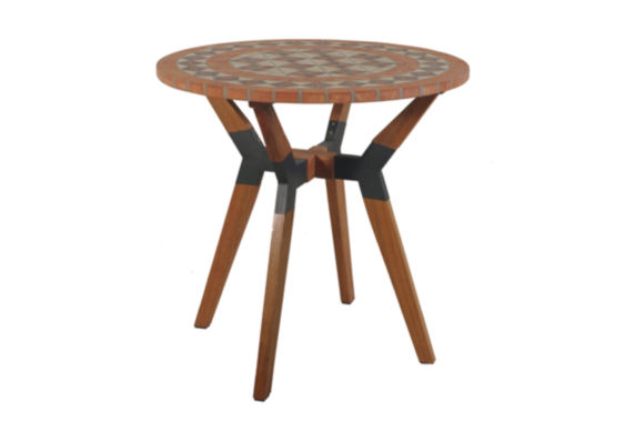 jcpenney.com | Outdoor Interiors 30 in. Terra Cotta Bistro Tablewith Eucalyptus and Metal Base