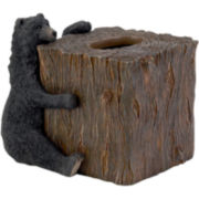 Avanti Black Bear Lodge Tissue Holder
