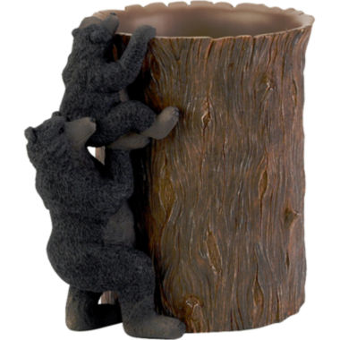 jcpenney.com | Avanti Black Bear Lodge Wastebasket