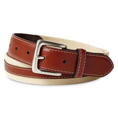 jcpenney.com | IZOD® Tan Canvas Belt - Boys 8-20