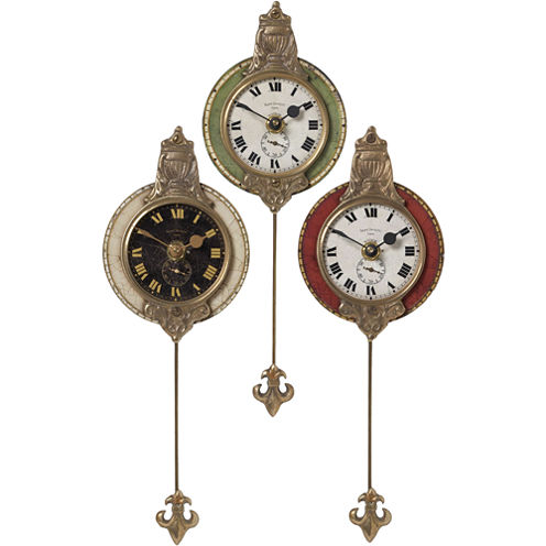 Monarch Set of 3 Pendulum Wall Clocks