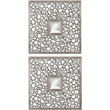 jcpenney.com | Silver-Tone Rings Set of 2 Square Wall Mirrors