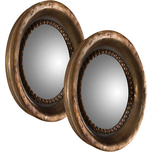 Tropea Set of 2 Round Decorative Wall Mirrors