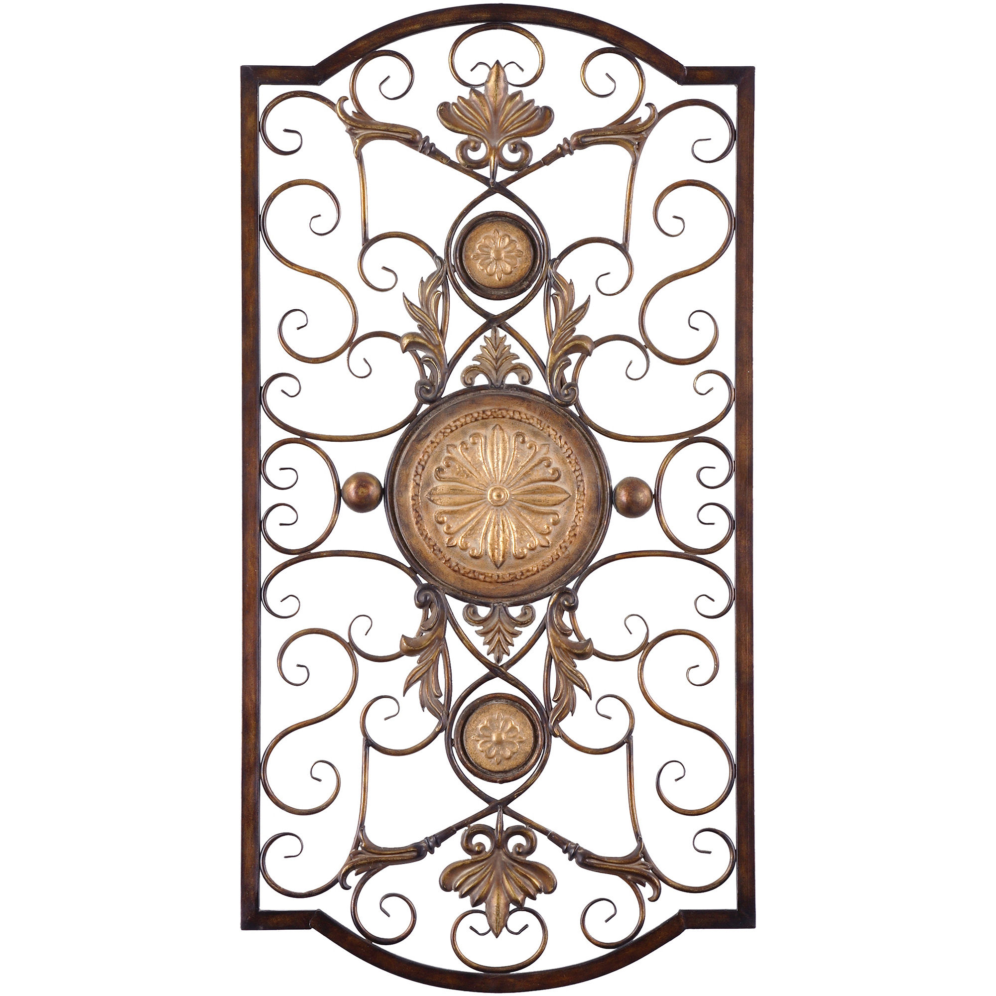 Wall grilles metal wall decor metal wall grille for Decorative scrollwork